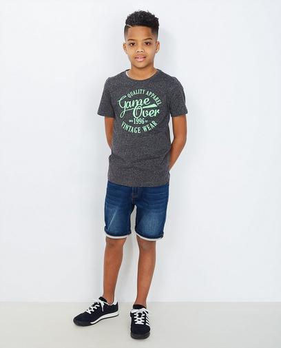 Schwarz getupftes T-Shirt